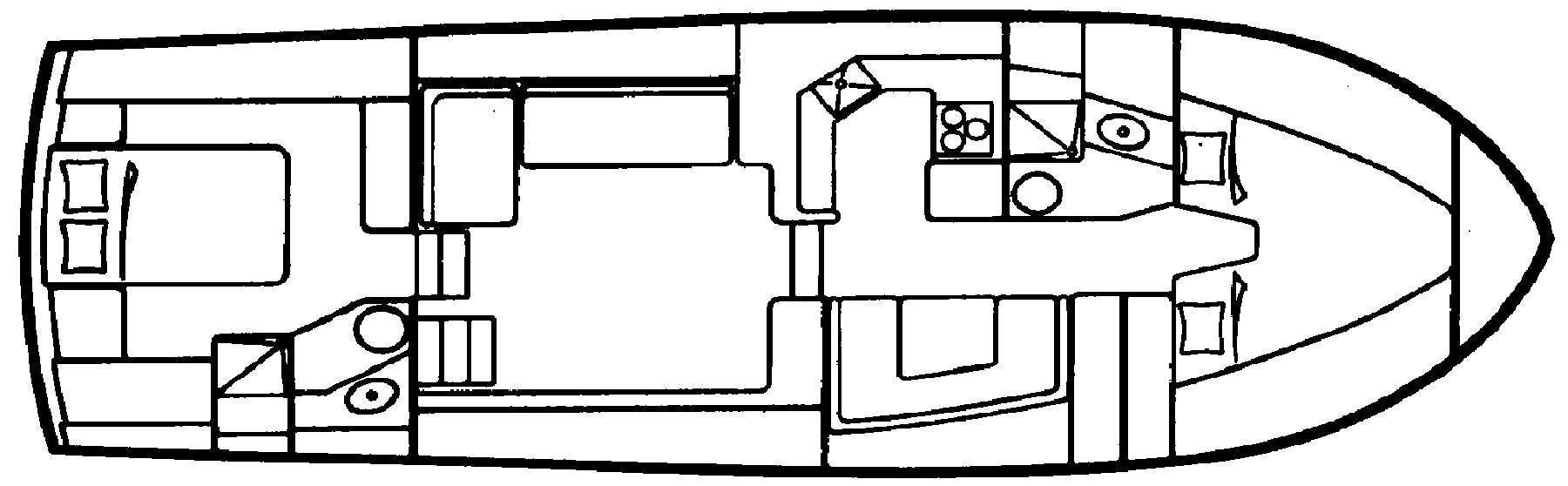 40 Aft Cabin Floor Plan 1