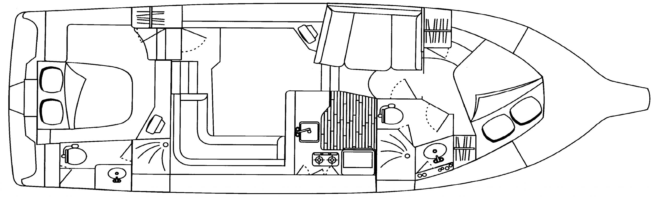402-422 Motor Yacht Floor Plan 2