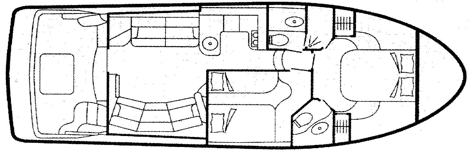 43 Sport Bridge Floor Plan 1