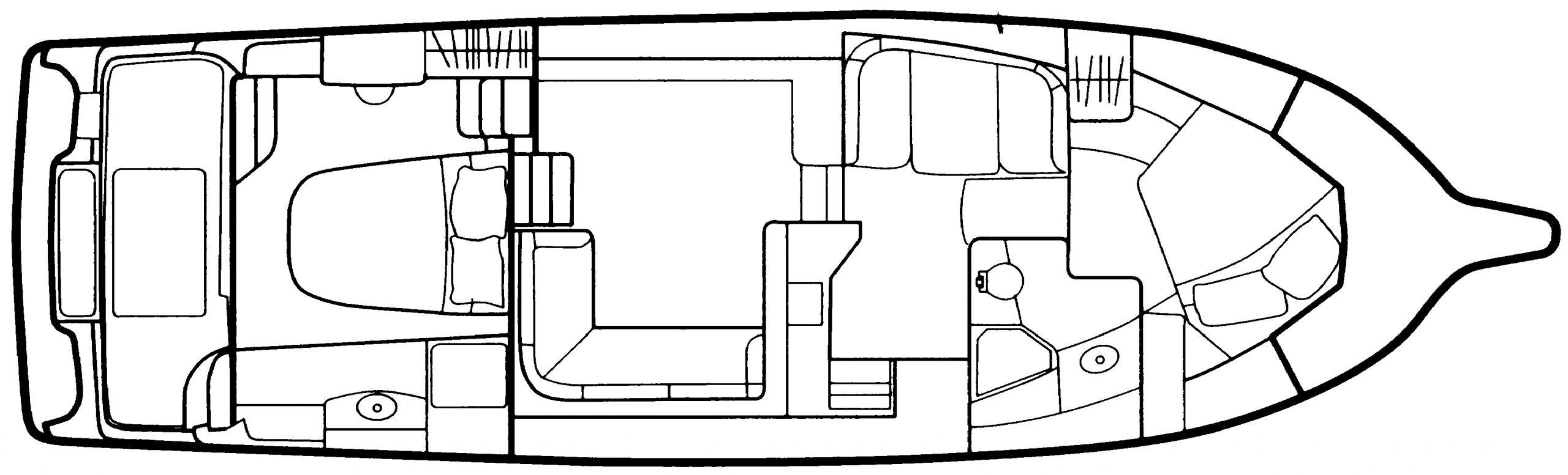 442 Cockpit Motor Yacht Floor Plan 1