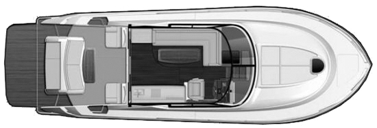 44 Coupe; 44 Flybridge Floor Plan 2