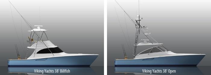 Image 2669: Viking Yachts 38 Billfish and 38 Open