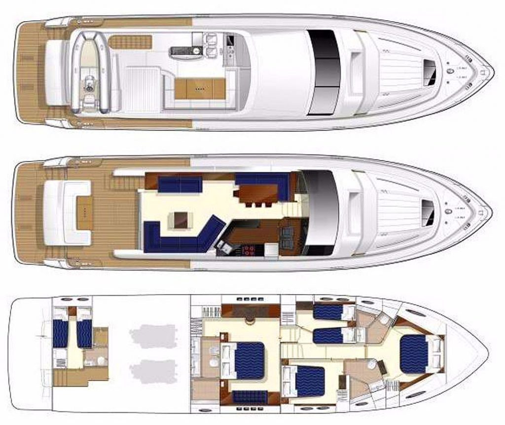 Princess 68 Floorplans