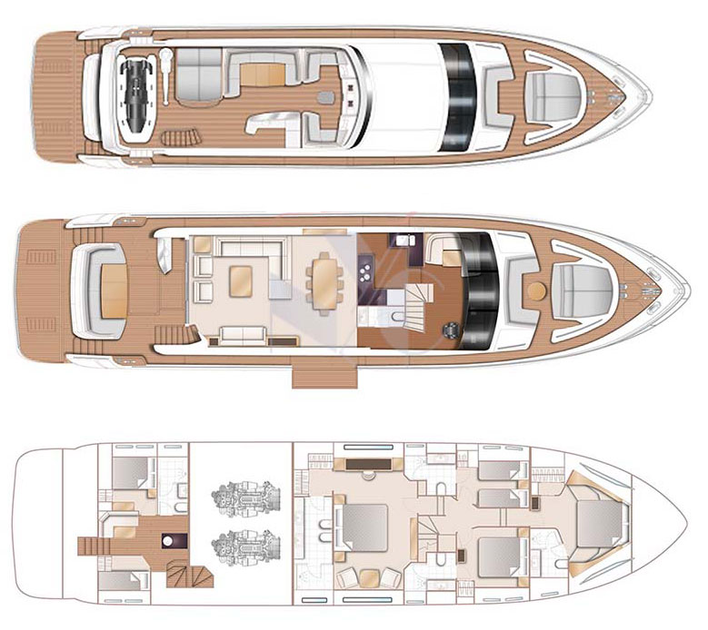 Princess 88 Floorplans