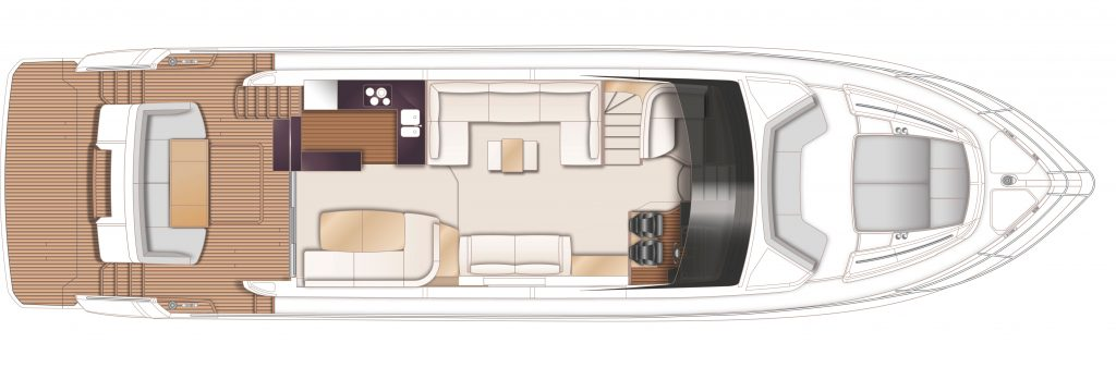 Princess F70 Floorplan 2