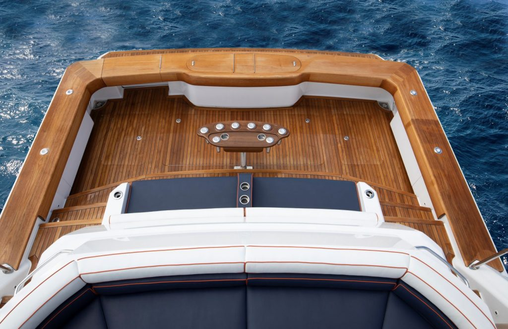 Teak Deck of Viking 82 Motor Yacht