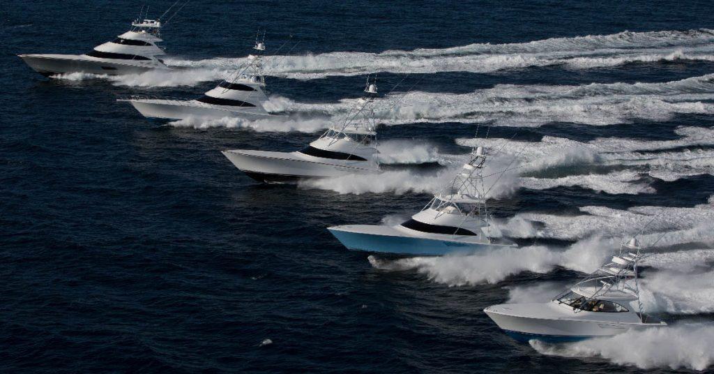 Viking Sportfish Fleet Running Shot