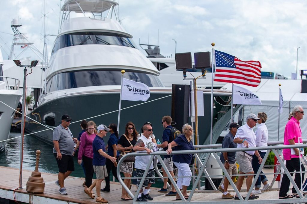Viking Yachts at the Miami Yacht Show