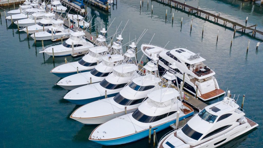 Viking Yachts on the Docks