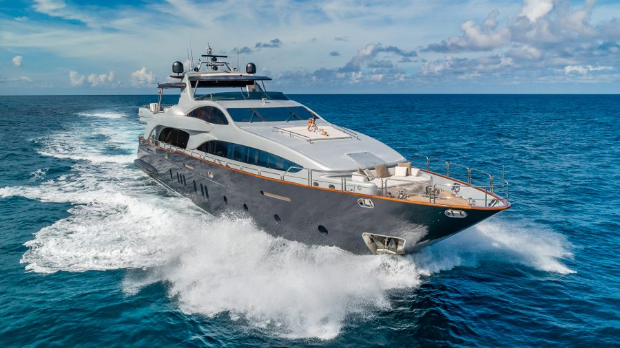 "Your Floating Resort Vacation – The Spectacular 116' Azimut Grande Motor Yacht, ""Tail Lights"""
