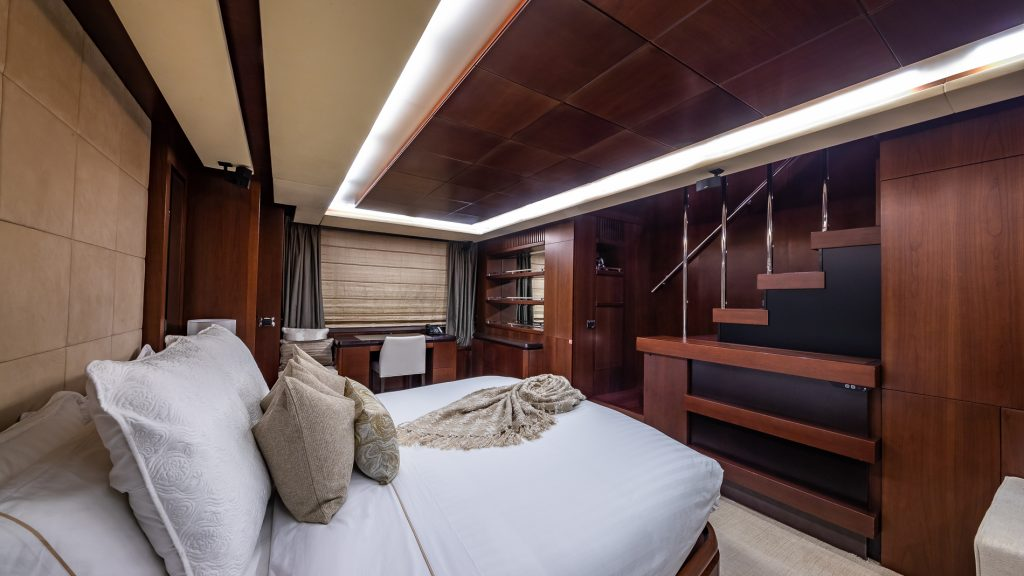 Master Suite of 116 Azimut Tail Lights