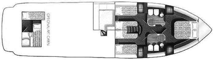 2000 Princess 60 Sport Cruiser Accommodations Layout