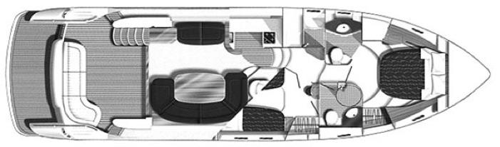 Princess 50 Flybridge Main Deck Floorplan