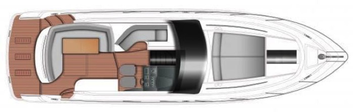 Princess V39 Main Deck Floorplan