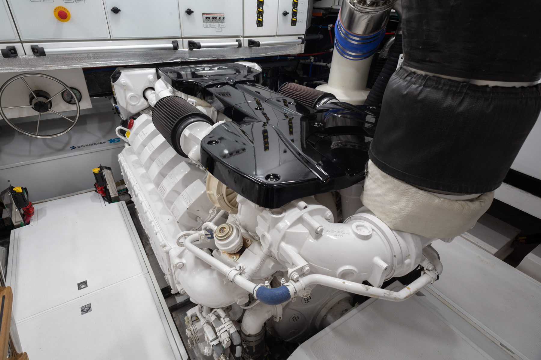 OKEAN 80 Engine Close Up