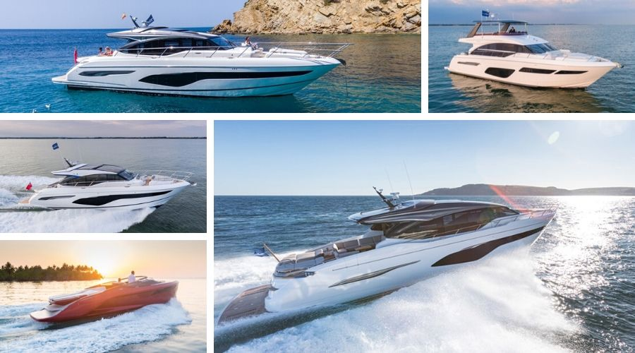 Five Princess Yachts Models