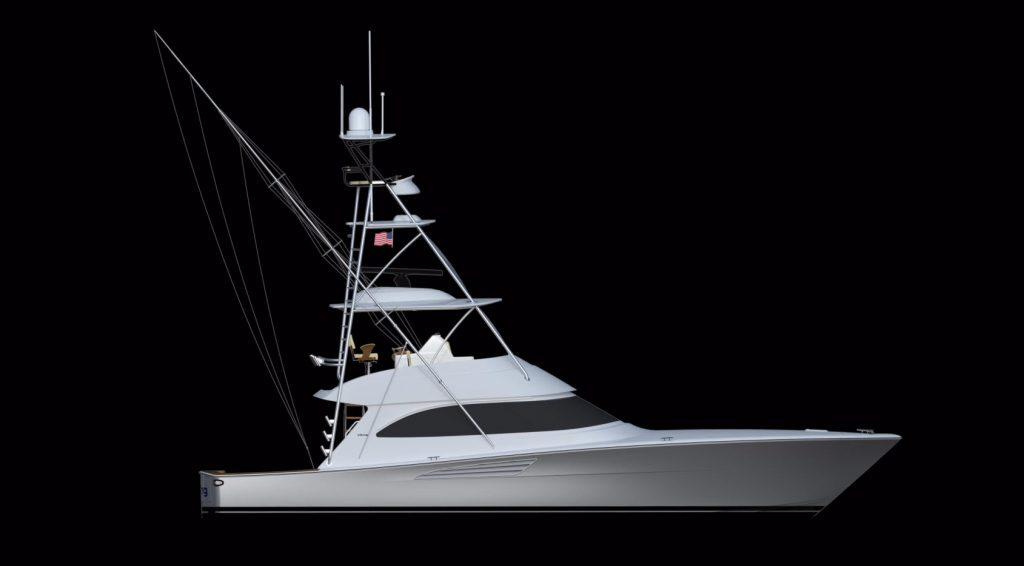 Viking yachts 54 Convertible rendering