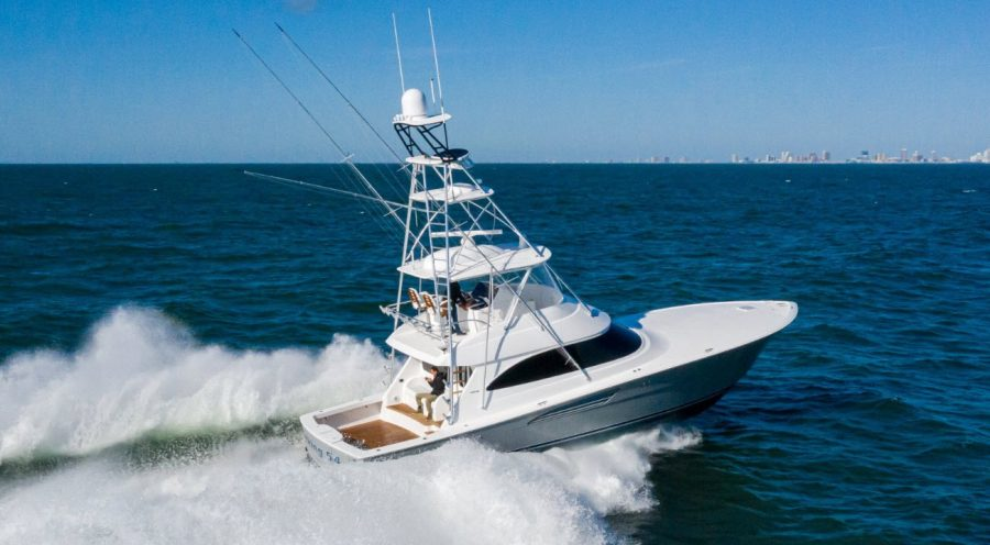 First Ever Video Walkthrough of The New Viking Yachts 54 Convertible