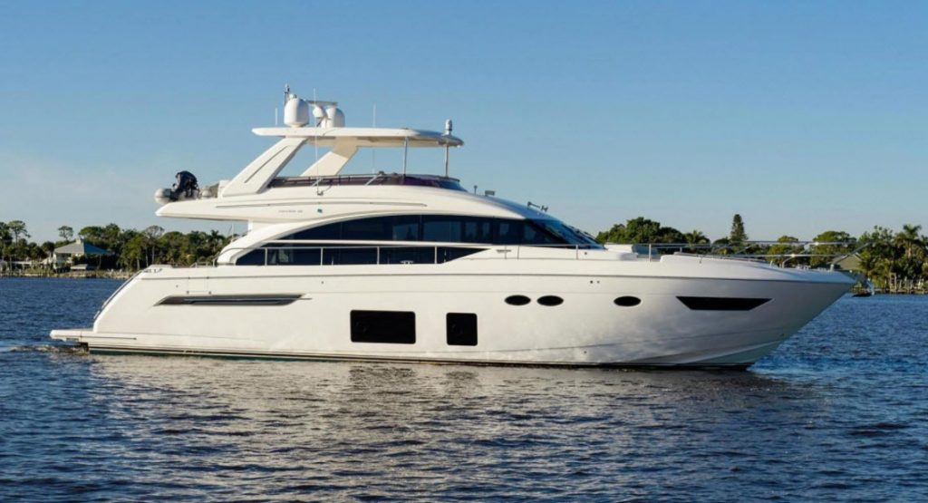 68 Princess Yacht Flybridge
