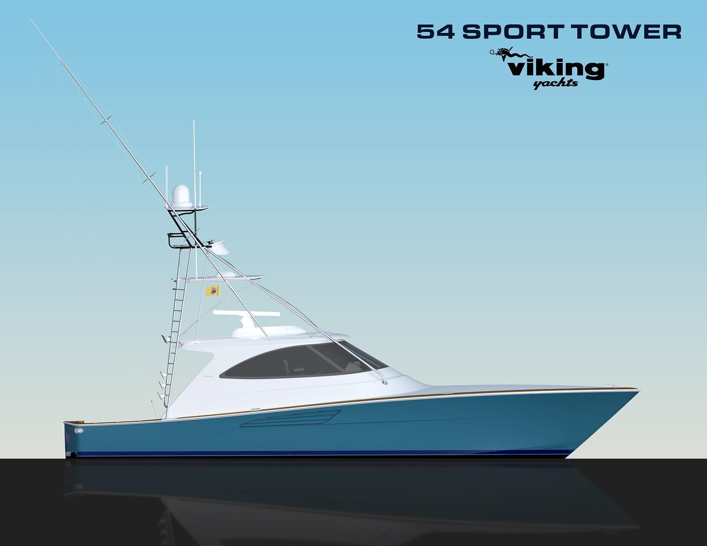 New Viking Yachts 54 Sport Tower