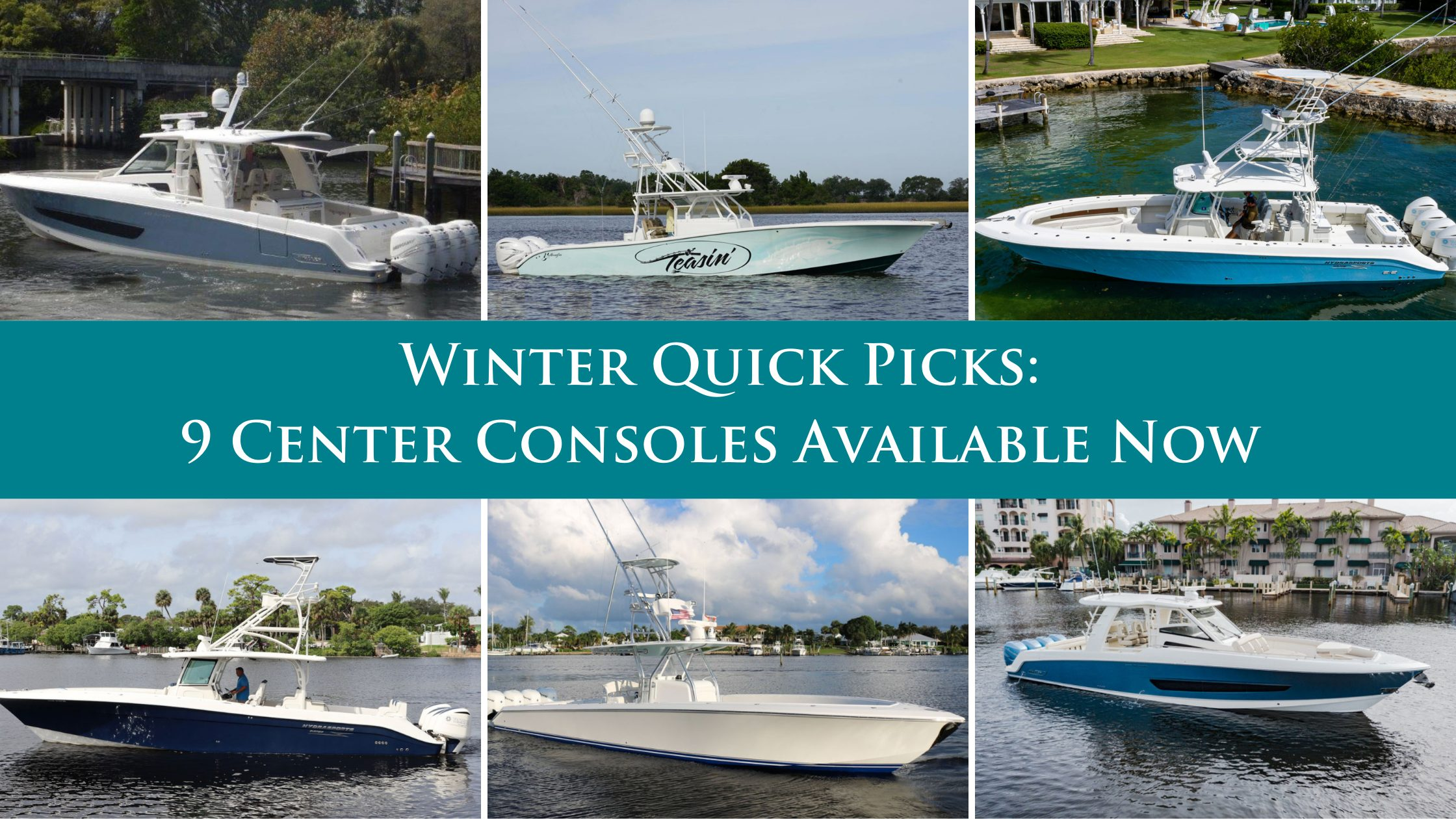 Winter Quick Picks: HMY's Top Center Console Listings