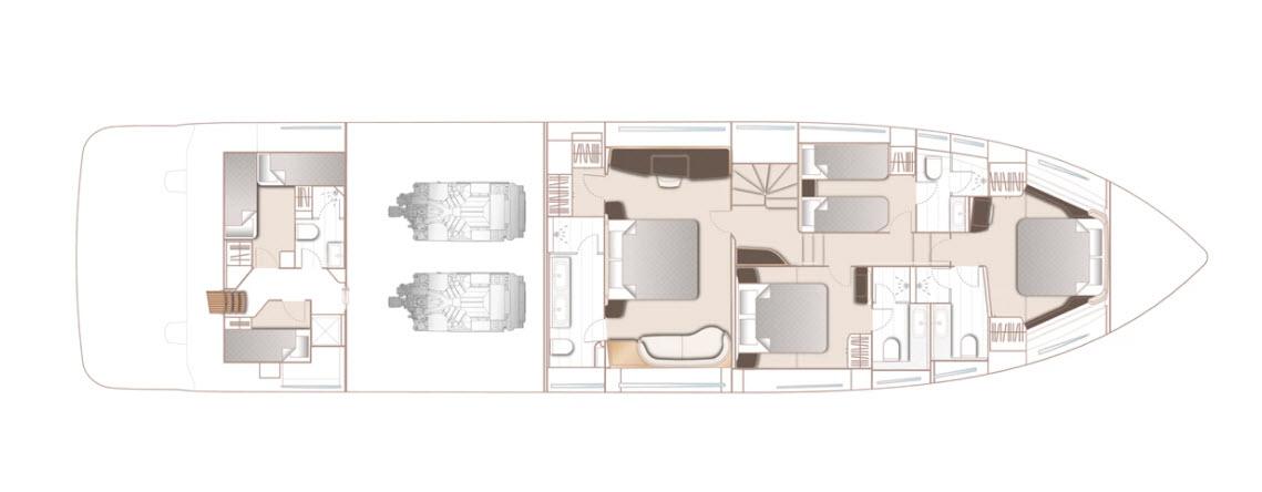 Princess X80 Lower Deck