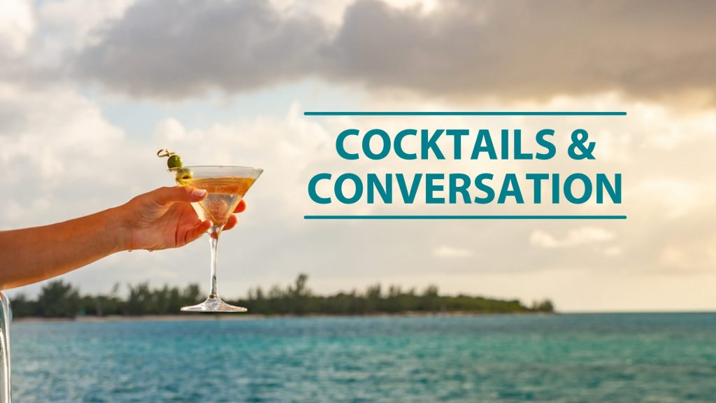 HMY cocktails and conversation